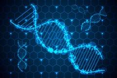 Abstracte technologie van DNA van het wetenschapsconcept hallo  stock afbeelding