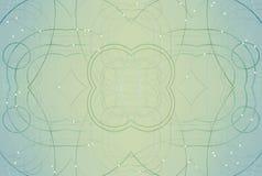 Abstracte technologie van het netwerk en het gebied van meetkunde Gebieden, gebogen lijnen en punten Futuristische gemetalliseerd royalty-vrije illustratie