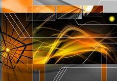 Abstracte technologieachtergrond stock illustratie