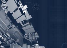 Abstracte technologieachtergrond Stock Afbeeldingen