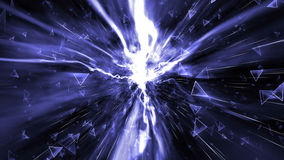 Abstracte Technologieachtergrond, Computergrafiek, Cyberspace Kabel royalty-vrije stock foto