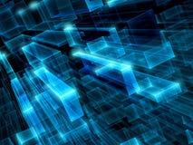 Abstracte technologieachtergrond - digitaal geproduceerd beeld stock illustratie