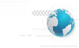 Abstracte technologieachtergrond en globaal netwerkconcept met v stock illustratie