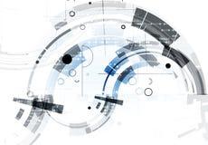 Abstracte technologieachtergrond Futuristische technologieinterface Stock Foto