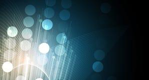Abstracte technologieachtergrond Futuristische technologieinterface Stock Afbeeldingen