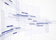 Abstracte technologieachtergrond Futuristische technologieinterface Vecto Royalty-vrije Stock Foto