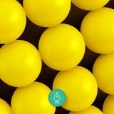 Abstracte technologieachtergrond met ballen spheric Stock Afbeeldingen