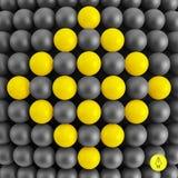 Abstracte technologieachtergrond met ballen spheric Stock Foto