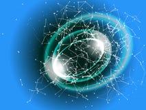 Abstracte technologieachtergrond op blauw Vector futuristische illust Royalty-vrije Stock Foto