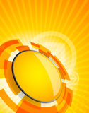 Abstracte technologieachtergrond in oranje kleur Royalty-vrije Stock Afbeelding