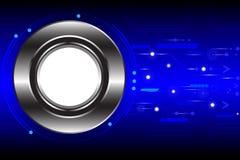 Abstracte technologiecirkels op donkerblauwe achtergrond Royalty-vrije Stock Afbeeldingen