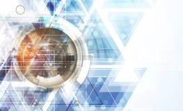 Abstracte technologiezaken als achtergrond & ontwikkelingsrichting Stock Foto