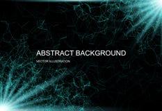 Abstracte technologische achtergrond Stock Afbeeldingen