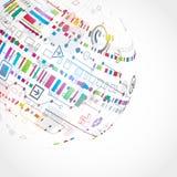 Abstracte technologische achtergrond Stock Afbeelding