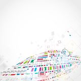 Abstracte technologische achtergrond Stock Foto's
