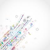 Abstracte technologische achtergrond Royalty-vrije Stock Afbeelding