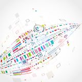 Abstracte technologische achtergrond Royalty-vrije Stock Afbeeldingen