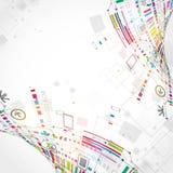 Abstracte technologische achtergrond Stock Foto