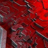 Abstracte technologische die achtergrond van verschillende element gedrukte kringsraad en gloed wordt gemaakt Royalty-vrije Stock Afbeelding