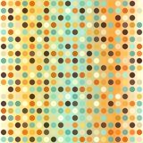 Abstracte tegelstextuur Naadloze vector retro puntachtergrond Royalty-vrije Stock Foto's