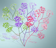 Abstracte tekening - bloem Stock Foto's