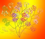 Abstracte tekening - bloemen Stock Afbeeldingen