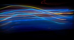 Abstracte tekening met licht Stock Foto's