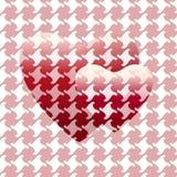 Abstracte tekening twee rode harten & x28; grote en kleine together& x29; Royalty-vrije Stock Afbeelding