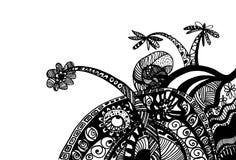 Abstracte tekeningsachtergrond Stock Foto's