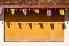 Abstracte tempelmuur Stock Foto's