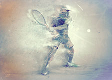 Abstracte tennisspeler Stock Fotografie