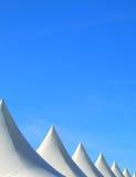 Abstracte tentbovenkanten stock foto