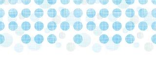 Abstracte textiel blauwe horizontale naadloze het patroonachtergrond van stippenstrepen Stock Fotografie