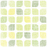 Abstracte textiel groene rond gemaakte naadloze vierkanten Royalty-vrije Stock Afbeeldingen