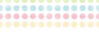 Abstracte textiel horizontale naadloze het patroonachtergrond van stippenstrepen royalty-vrije illustratie