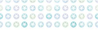Abstracte Textielsneeuwvlokken Dots Horizontal Royalty-vrije Stock Afbeelding