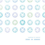 Abstracte Textielsneeuwvlokken Dots Horizontal Frame Stock Fotografie