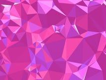 Abstracte textuur Een multicolored, mooie textuur met schaduwen en volume, dat met behulp van een gradiënt en een geometrische fi Stock Afbeelding