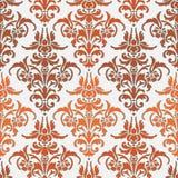 Abstracte textuur Illustratie met oranje kunstbloem Royalty-vrije Stock Foto's