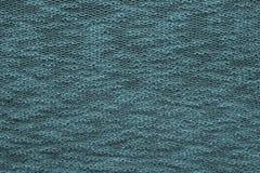 Abstracte textuur Jersey van donkerblauwe groene kleur Stock Fotografie