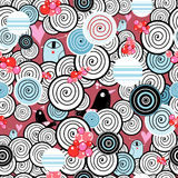 Abstracte textuur met vogels Royalty-vrije Stock Foto