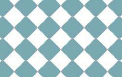Abstracte textuur van lichtblauwe en witte vierkanten van ruiten, ceramische lichtgevende tegels De achtergrond Vector illustrati vector illustratie