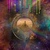 Abstracte tijd Stock Foto's