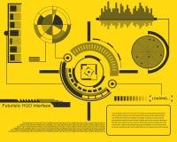 Abstracte toekomst, gebruikersinterface HUD van de concepten het vector futuristische blauwe virtuele grafische aanraking Voor We Stock Foto's