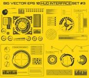 Abstracte toekomst, gebruikersinterface HUD van de concepten het vector futuristische blauwe virtuele grafische aanraking Voor We Stock Foto