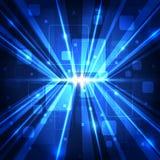 Abstracte toekomstige communicatietechnologie, illustratieachtergrond Stock Fotografie
