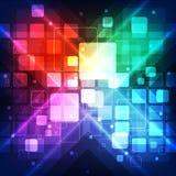 Abstracte toekomstige communicatietechnologie, illustratieachtergrond Stock Foto