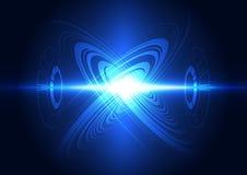Abstracte toekomstige het systeemachtergrond van de technologiemacht, illustratie
