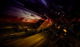 Abstracte toekomstige stadsachtergrond Stock Foto's