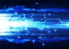 Abstracte toekomstige technologie, illustratieachtergrond Stock Afbeelding